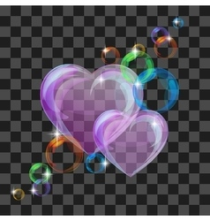 Shiny bubble heart vector image