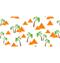 Pyramids seamless background vector