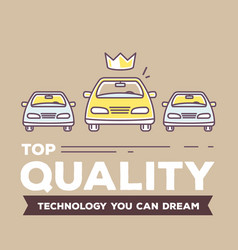 Creative retro color of three cars vector