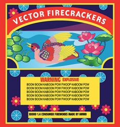 Firecracker label vector