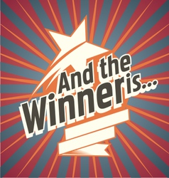 And the winner is vector image