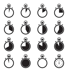 Set of stopwatch icons vector