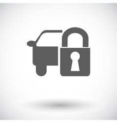 Locking car doors vector