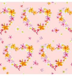 Tropical hearts flowers backgrounds vector