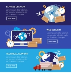 International delivery and worldwide postage vector