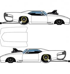blown Camaro vector image