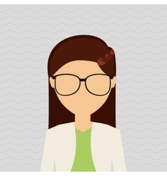 female avatar design vector image