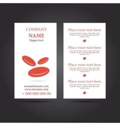 Modern simple vertical business card vector
