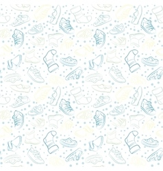 Seamless set of baby shoes vector