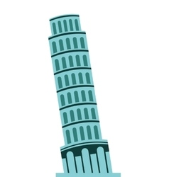 Tower of pisa italian icon vector