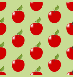 Apple fruit seamless pattern vector