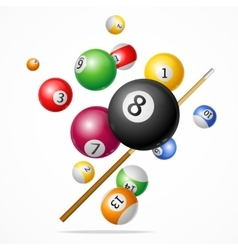 Billiard ball concept vector