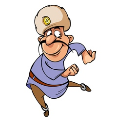 cartoon character funny guy native Caucasian vector image