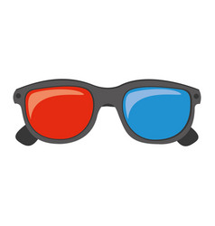 color 3d glasses cinema movie icon vector image vector image