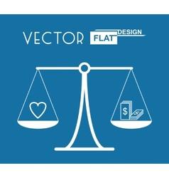 Flat balance symbol vector
