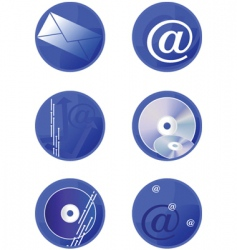 icons multimedia vector image vector image