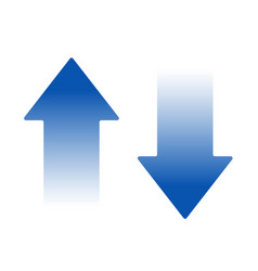 isolated blue arrow icon button on white vector image