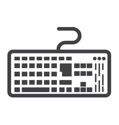Keyboard line icon button and device vector