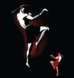 Kickboxer vector image
