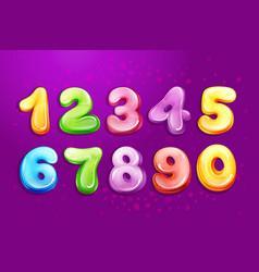 kid numbers bubble cartoon type set vector image