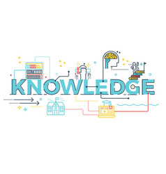 knowledge word lettering vector image