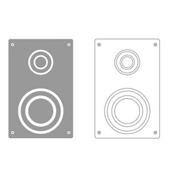 loud speaker set icon vector image
