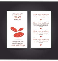 Modern simple vertical business card vector image vector image