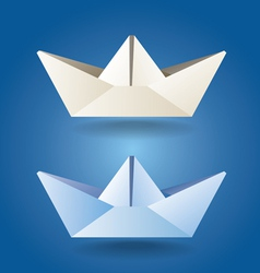 paper boats soft colors vector image vector image