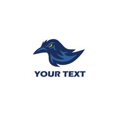 Raven logo mascot design vector