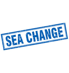 Sea change square stamp vector