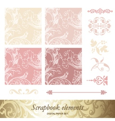 Set of victorian patterns vector image