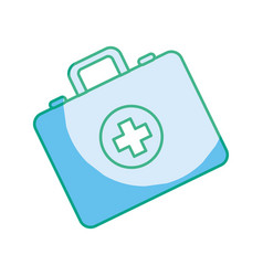 silhouette first aid kit emergency vector image vector image