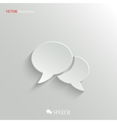 Speech icon - web background vector image