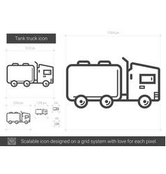 Tank truck line icon vector