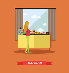 trip to egypt breakfast concept flat style vector image