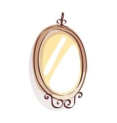 Vintage mirror style vector