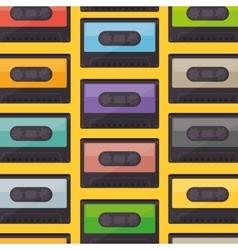 cassette music old pattern vector image