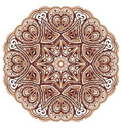 Ornate ethnic henna colors mandala vector