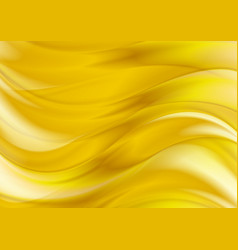 Golden liquid smooth waves abstract background vector