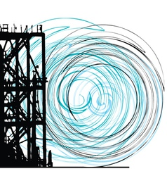 Abstract grunge tower vector image