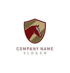 horse shield logo 2 vector image