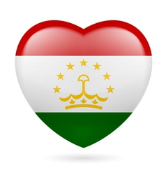 Heart icon of tajikistan vector