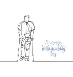 3 december world disability day hand lettering vector