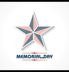 Creative memorial day greeting stock vector