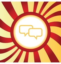 Chat abstract icon vector