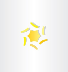 Abstract yellow star icon logo element vector