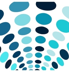 Blue circles arch abstract background vector