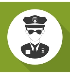 Police icon design vector