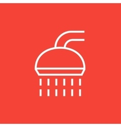 Shower line icon vector