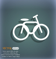 Bicycle bike icon on the blue-green abstract vector